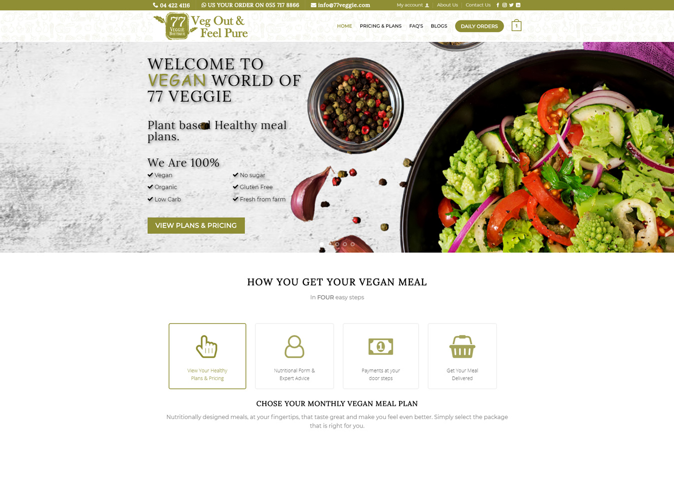 Vegan Meal Plan Dubai